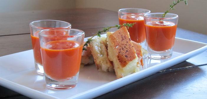 Fesleğenli Soğuk Domates Çorbası