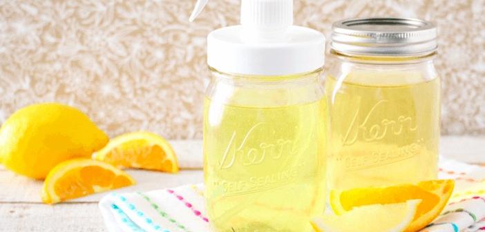 Temizlik İçin Limon Sirkesi Hazırlayabilirsiniz